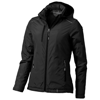 Smithers fleece lined ladies Jacket in black-solid