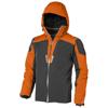 Ozark insulated jacket in orange-and-grey