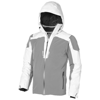 Ozark insulated jacket in white-solid-and-grey