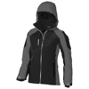 Ozark insulated ladies Jacket in black-solid-and-grey