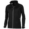 Kaputar ladies softshell jacket in black-solid