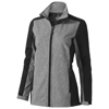 Vesper ladies softshell jacket in black-solid-and-heather-charcoal