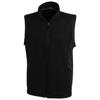 Tyndall micro fleece bodywarmer in black-solid