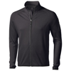 Mani power fleece full zip Jacket in black-solid
