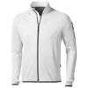 Mani power fleece full zip Jacket in white-solid
