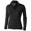 Mani power fleece full zip ladies Jacket in black-solid