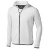 Brossard micro fleece full zip Jacket in white-solid