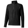 Bowlen polyfleece quarter zip in black-solid