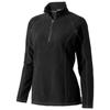 Bowlen polyfleece quarter zip ladies in black-solid