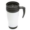 Travel Mug in white-black
