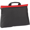 Swale Document Bag in black-and-red