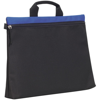 Swale Document Bag in black-and-royal
