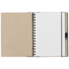 Birchley A5 Recycled Notebook in natural-and-black