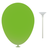 12 Inch Latex Balloons with Cup and Stick in lime