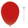 12 Inch Latex Balloons with Cup and Stick in red