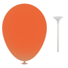 10 Inch Latex Balloons with Cups and Sticks in burnt-orange