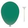10 Inch Latex Balloons with Cups and Sticks in dark-green