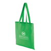 Coloured Cotton Shopper in green