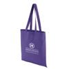 Coloured Cotton Shopper in purple