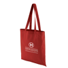 Coloured Cotton Shopper in red
