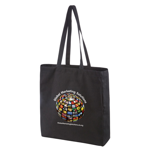Black Premium Canvas Shopper in black-digi