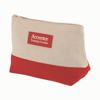 Amenity Bag in natural-and-red