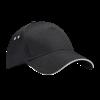 Ultimate Cotton Cap with Sandwich Peak in black