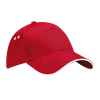 Ultimate Cotton Cap with Sandwich Peak in classic-red