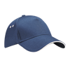 Ultimate Cotton Cap with Sandwich Peak in french-navy