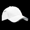 Ultimate Cotton Cap with Sandwich Peak in white
