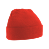 Acrylic Knitted Hat in bright-red
