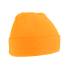Acrylic Knitted Hat in fluorescent-orange