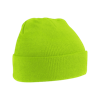 Acrylic Knitted Hat in lime-green