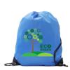 Kids Black Polyester Drawstring Sports Bag in royal-blue