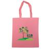 Dunham 5oz Premium Natural Cotton Shopper Bag in pink