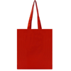 Dunham 5oz Premium Natural Cotton Shopper Bag in red