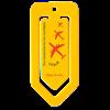 Jumbo Paper Clip in yellow
