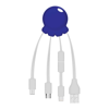 Octopus 2 - Digital Print Multi Charging Cable in blue