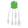 Octopus 2 - Digital Print Multi Charging Cable in green