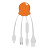 Octopus 2 - Digital Print Multi Charging Cable in orange