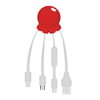 Octopus 2 - Digital Print Multi Charging Cable in red