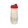 Pulse Sports Bottle in white-flip-lid