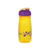 Pulse Sports Bottle in yellow-flip-lid