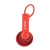 Measuring Spoon Set Standard in red