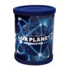 Round Moneybox Pot Flat Pack in blue