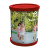 Round Moneybox Pot Flat Pack in red