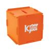 Moneybox Square Money Box in orange