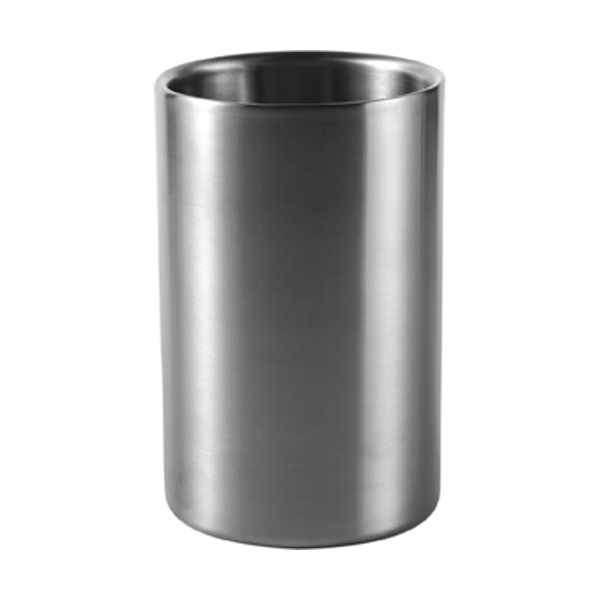 Stainless steel wine cooler in silver