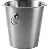 Steel champagne bucket in silver