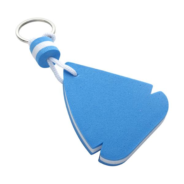 EVA foam sailing boat key holder. in blue-and-white
